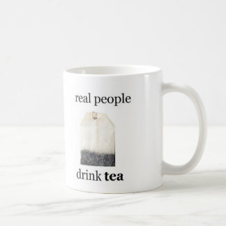 Real People Drink Tea Basic White Mug