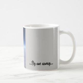 Real photo of plane wing - fly me away! coffee mug