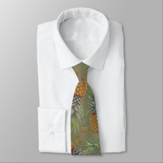 Real Pineapples Pattern Sage Tie