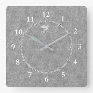 Real Platinum Modern Decorated 3-c Wall Clock Sale