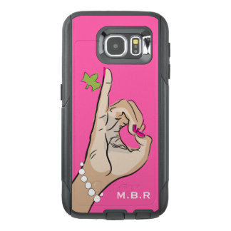 Real Pretty pink and green love OtterBox Samsung Galaxy S6 Case