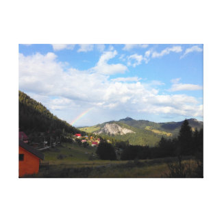 Real Rainbow In The Valley Canvas Print