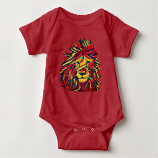Real Rasta Lion Baby Bodysuit