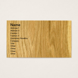 Real Scanned Crown Cut Oak Veneer Business Card