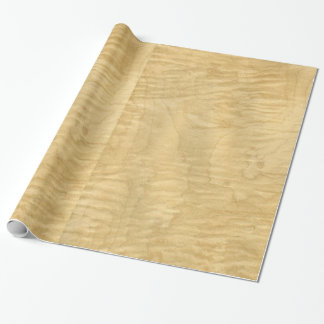 Real Scanned Curly Maple Veneer Woodgrain Wrapping Paper