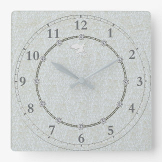 Real Silver Modern Decorated 1-b Wall Clock Sale