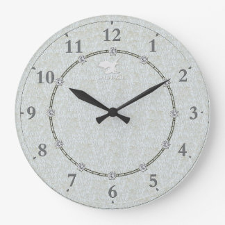Real Silver Modern Decorated 1-c Wall Clock Sale