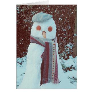 Real snowman card