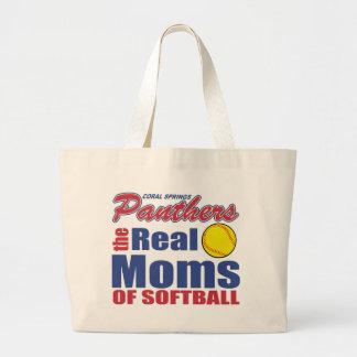 Real Softball Mom Jumbo Tote Bag