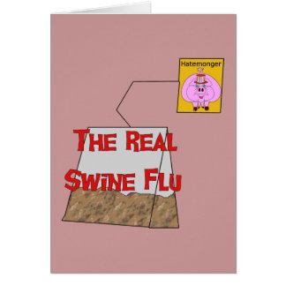 Real Swine Flu Greeting Card