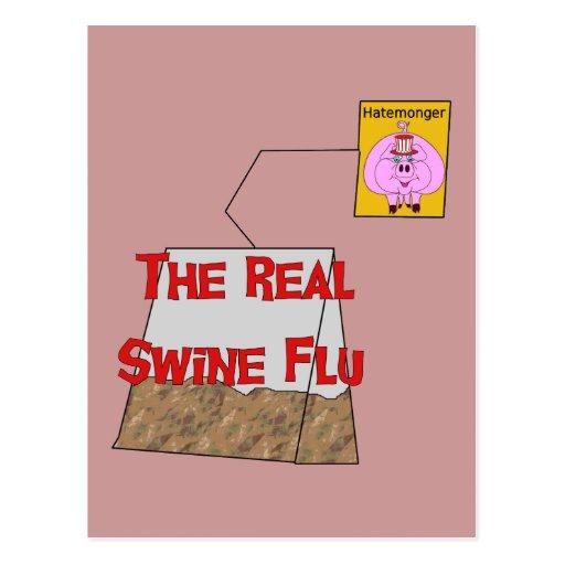 Real Swine Flu Postcard