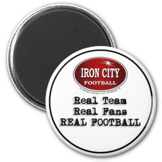 Real Team, Real Fans, Real Football Pittsburgh 6 Cm Round Magnet