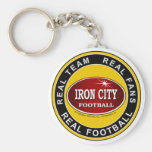 Real Team, Real Fans, Real Football Pittsburgh Basic Round Button Key Ring