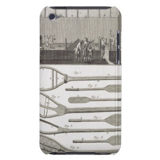 Real tennis and the construction of racquets, from iPod Case-Mate cases