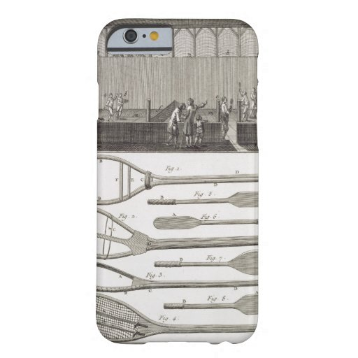 Real tennis and the construction of racquets, from iPhone 6 case