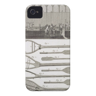 Real tennis and the construction of racquets, from iPhone 4 cover