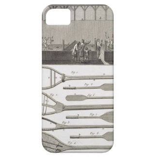 Real tennis and the construction of racquets, from iPhone 5 cover