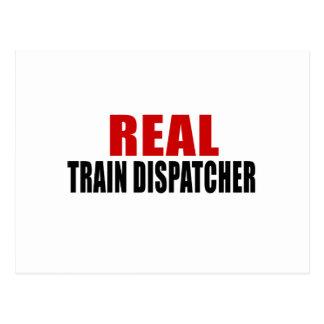 REAL TRAIN DISPATCHER POSTCARD