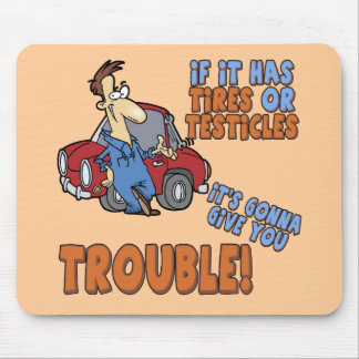 Real Trouble T-shirts and Gifts For Her Mouse Mat