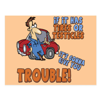 Real Trouble T-shirts and Gifts For Her Postcard