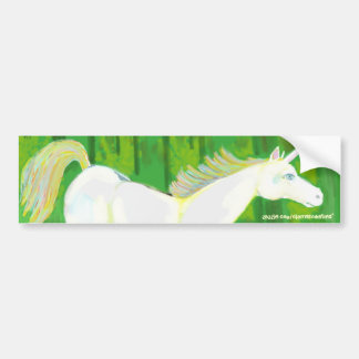 Real Unicorn in a Forest Bumpersticker Bumper Sticker