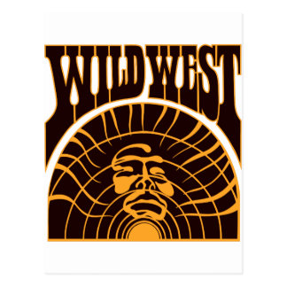 Real Wild West Indian Style Postcard