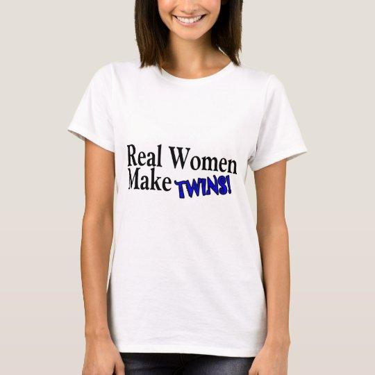 Real Woman Make Twins (Blue) T-Shirt