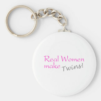 Real Woman Make Twins (Pink) Keychain