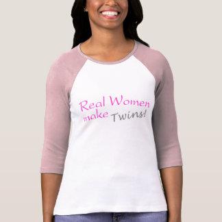 Real Woman Make Twins (Pink) Tees