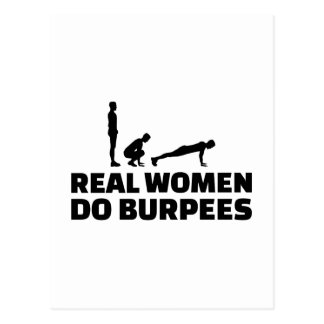 Real women do burpees postcard