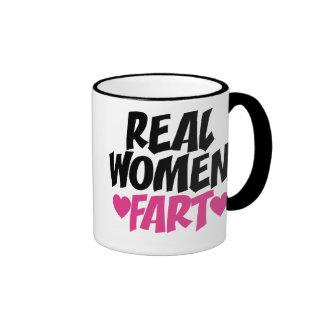 Real Women Fart Ringer Mug