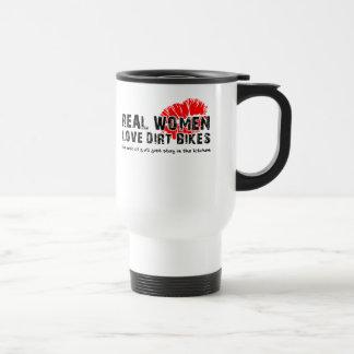 Real Women Funny Dirt Bike Motocross Travel Mug
