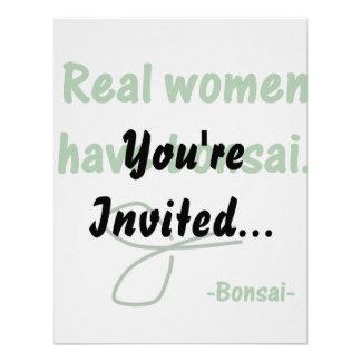 Real Women Have Bonsai , design with shears Custom Invites