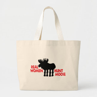 Real Women Hunt Moose Canvas Bag