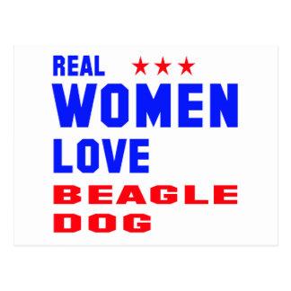 Real women love Beagle dog Postcard