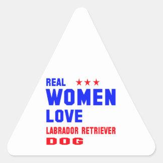 Real women love Labrador Retriever dog Triangle Sticker