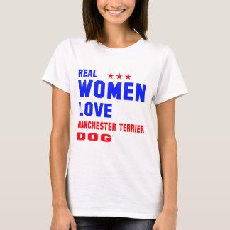 Real women love Manchester Terrier dog T-Shirt