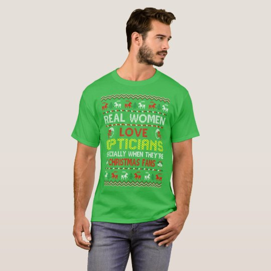 Real Women Love Opticians Christmas Ugly Sweater