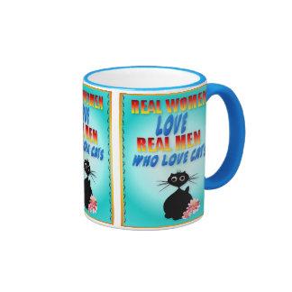 Real Women Love Real Men Who Love Cats Mug