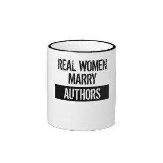Real Women Marry Authors Ringer Mug