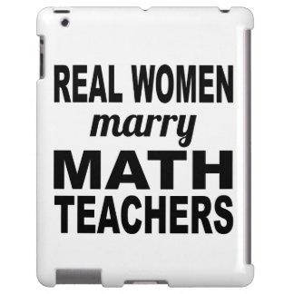 Real Women Marry Math Teachers iPad Case