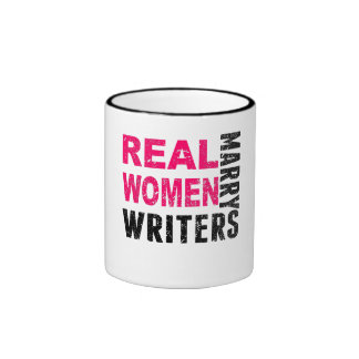 Real Women Marry Writers Ringer Mug