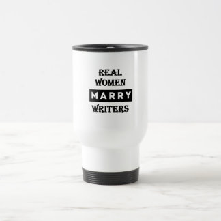 Real Women Marry Writers Stainless Steel Travel Mug
