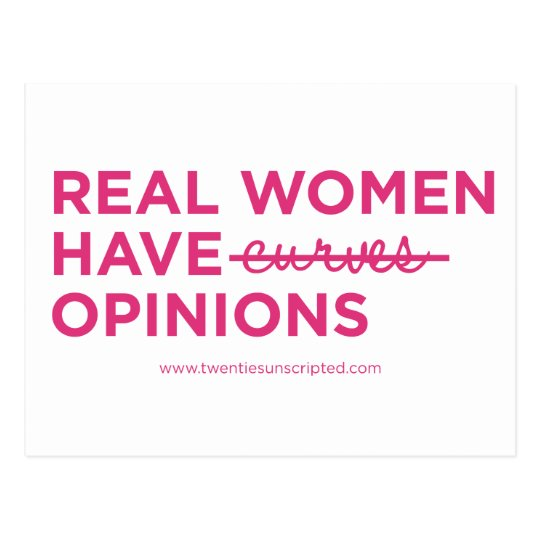 Real Women Notecard Postcard