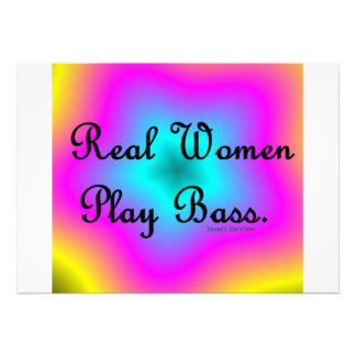 Real Women Play Bass Personalized Announcements