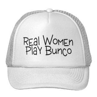 Real Women Play Bunco Hats