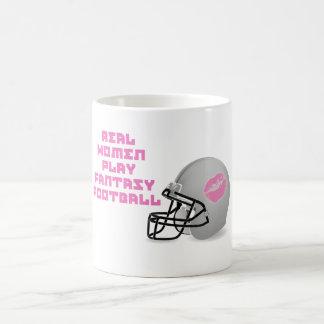 Real Women Play Fantasy Football Coffee Mug