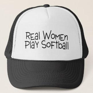 Real Women Play Softball Trucker Hat