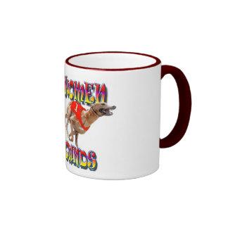 Real Women Race Greyhounds 2 Ringer Mug