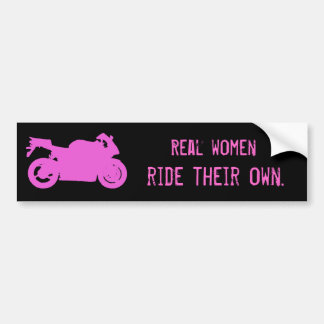 Real Women Ride Bumper Sticker Car Bumper Sticker